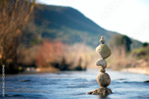 Photo Autumn stack balance