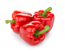 Three Red Bell Pepper