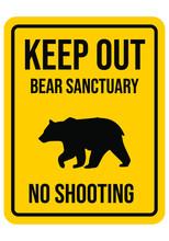 No Hunting Warning Road Sign. Endangered Animal. Hunting Season. No Trespassing. Vector Illustration