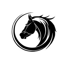 Horse Icon On Line Style On A ...