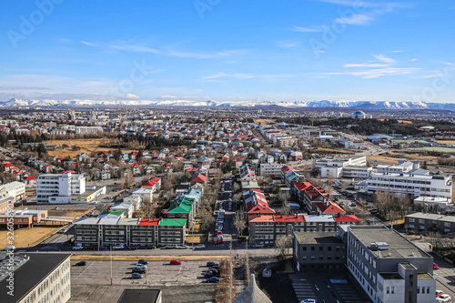 Tablou Canvas View of Reykjavik from the observation deck of Hallgrimskirkja Church