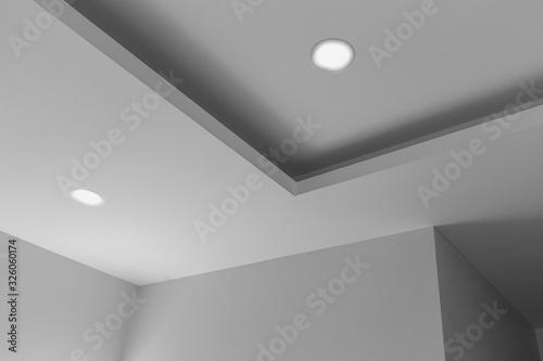 Tableau sur Toile Ceiling close-up in classic interior