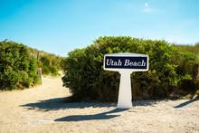 Utah Beach Signpost On A Sunny...