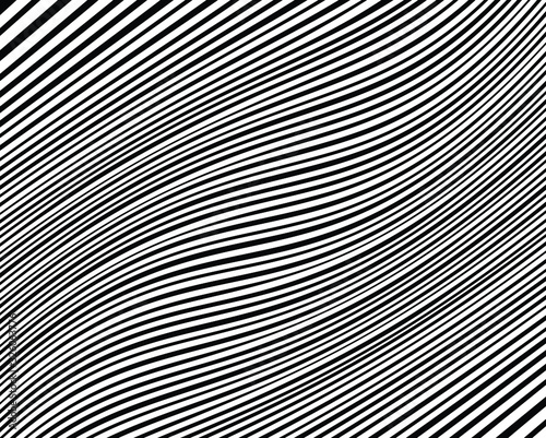 Abstract background with optical illusion wave Canvas Print