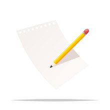 Pencil And Paper Vector Isolat...