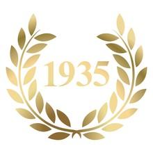 Year 1935 Gold Laurel Wreath V...