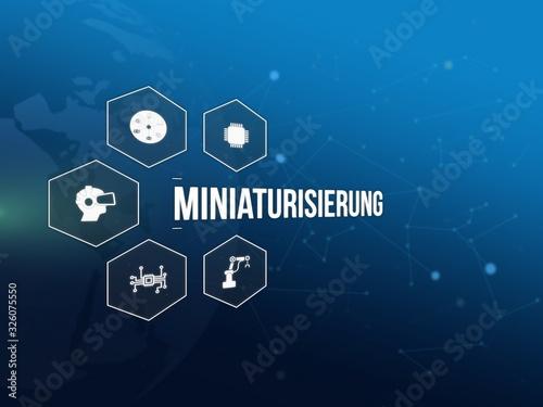 Fototapeta Miniaturisierung