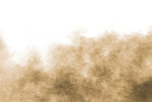 Abstract Deep Brown Dust Explo...