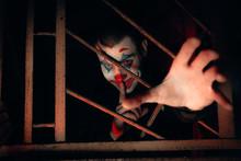 Close-up Portrait Of A Joker M...