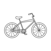 Black And White Outline Bicycle Image