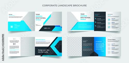 Valokuvatapetti Corporate landscape brochure template