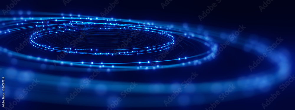 Fototapeta defocused image of  fiber optics lights abstract background
