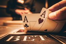 Dealer Or Croupier Shuffles Po...
