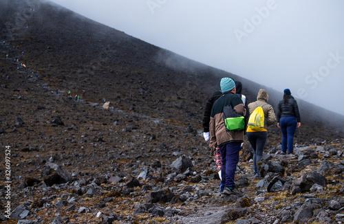 Senderismo, montañismo, trekking, deporte en montaña Canvas Print