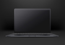 Black Laptop With Empty Screen...
