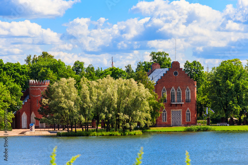 Admiralty on a bank of Big Pond in Catherine park at Tsarskoye Selo in Pushkin, Wallpaper Mural