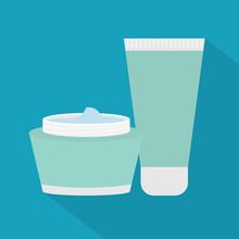 Cream Cosmetic Icon- Vector Il...