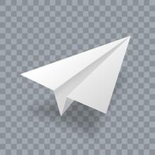 Paper Plane Vector Realistic 3...