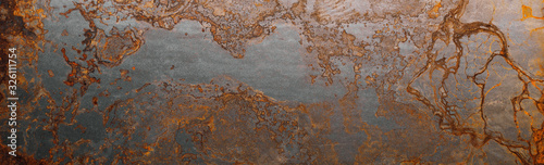 Cuadros en Lienzo Steel textured metal sheet with heavy rust