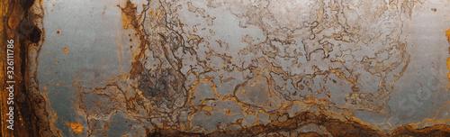 Fotografía Steel textured metal sheet with heavy rust