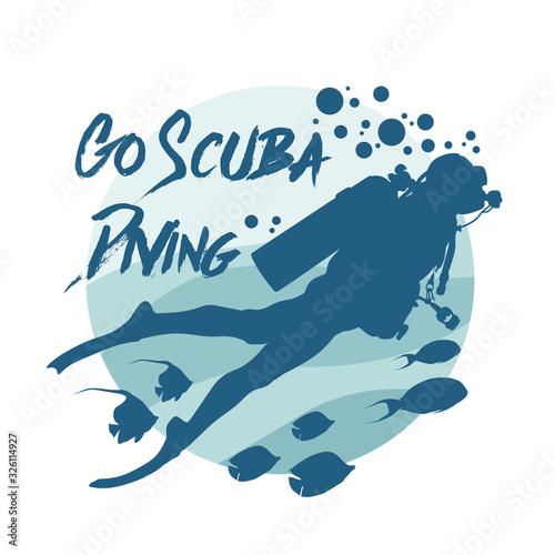 Fotografia Scuba diving logo