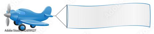 Photo Banner airplane cartoon
