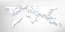 A World Map 3d Digital Technol...