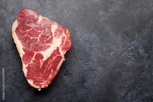 Fototapeta Ribeye raw beef steak obraz