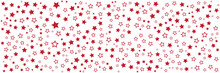 Red Star Pattern Background Fo...