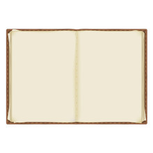 An Old, Battered Notebook With...