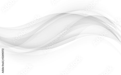 Obraz Abstract gray waves - data stream concept. Vector Illustration - fototapety do salonu