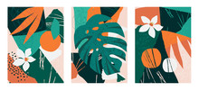 Set Of Collages Contemporary F...