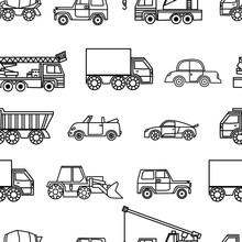 Car Seamless Pattern, Black An...