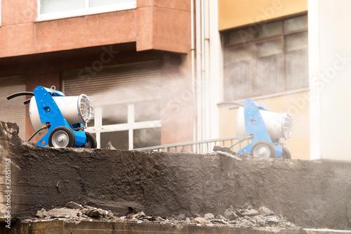 Carta da parati portable industrial fog cannon for dust suppression in construction site in  bri