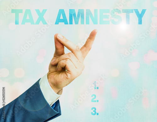 Writing note showing Tax Amnesty Canvas Print