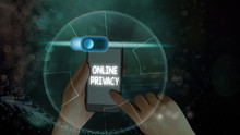 Writing Note Showing Online Privacy. Business Concept For Involves The Control Of What Information You Reveal Online