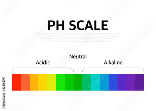 The Ph scale universal Indicator ph Color Chart diagram Canvas Print