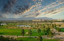 A Resort Golf Course In The De...
