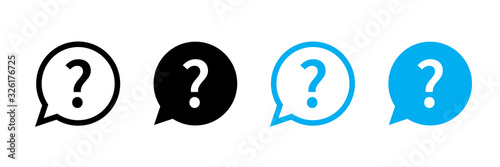 Question mark set of vector isolated icons Canvas Print