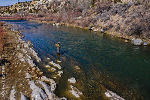 fly fishing the San Jaun River Fototapet