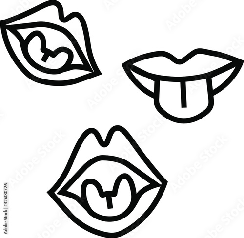 lips, tongue, articulation, speech therapist Wallpaper Mural