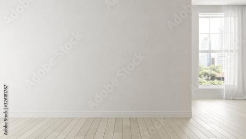 Fotomural Interior of empty modern living room 3D rendering