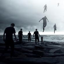 Group Of People Walking Toward...