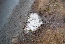 Winter Roads, Cracked Asphalt,...