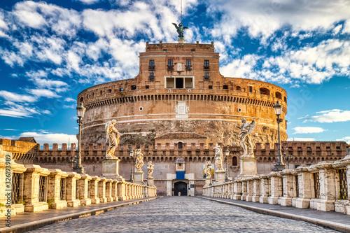 Fényképezés Saint Angelo Castle on a Sunny Day, Castel Sant Angelo in Rome