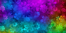 Spring Background Of Various F...