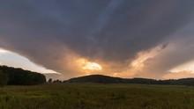 Timelapse Of Dramatic Sunset O...