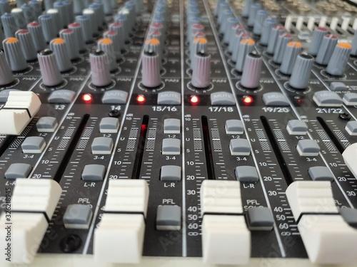 Photo mesa de som de audio