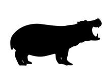 Vector Hippo Silhouette