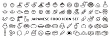 Big Set Of Japanese Food Icon ...